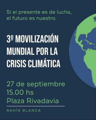 Bahía Blanca se suma a la movilización mundial contra el cambio climático