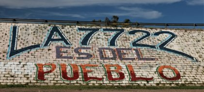 Vuelve el mural por la Ley 7722 a San Martín