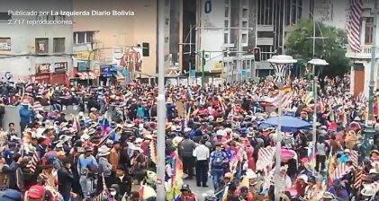 [Video] Continúan las movilizaciones en La Paz contra el golpe de Estado