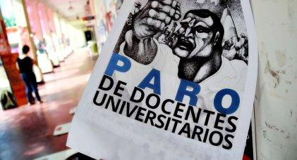 Semana de paro nacional de docentes universitarios en todo el país