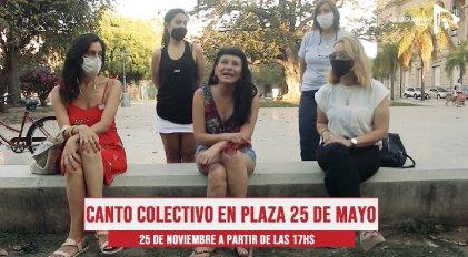 [Video] Mujeres cantoras de Santa Fe invitan a estar en las calles este 25N