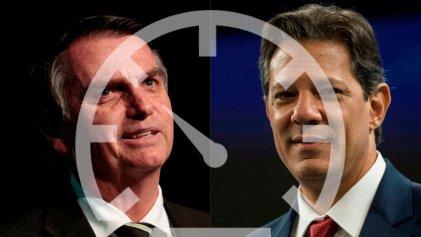 Se achica la amplia brecha hacia el ballotage y Bolsonaro da un giro en su campaña