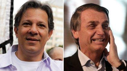 """Un apoyo más que cuestionable: Haddad felicitó a Bolsonaro y le deseó """"buena suerte"""""""
