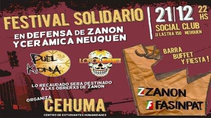 Hoy: gran festival en defensa de Zanón y las gestiones obreras