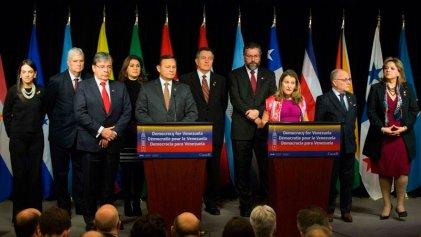El Grupo Lima llama a las Fuerzas Armadas venezolanas a respaldar a Guaidó