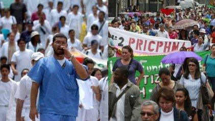 Médicos y maestros hondureños se unen contra las privatizaciones del Gobierno y el FMI