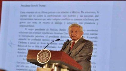 """López Obrador responde con """"diálogo y prudencia"""" a los ataques de Trump"""