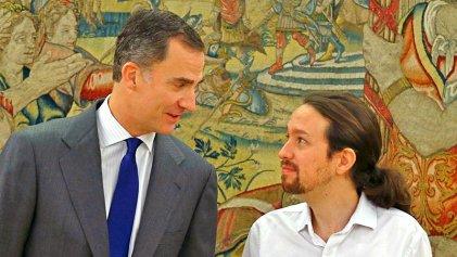 Pablo Iglesias, rogando a Su Majestad para gobernar con la casta