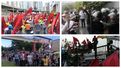 Trabajadores y estudiantes contra las reformas constitucionales del Gobierno en Panamá