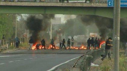 Paro nacional en Chile: barricadas y cortes de ruta en distintos puntos del país