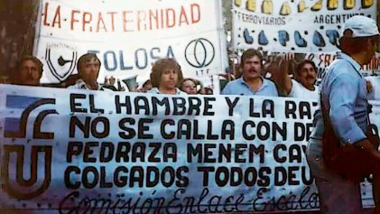 A 29 años de las huelgas ferroviarias que desafiaron a Menem