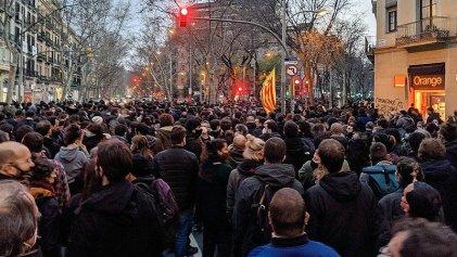 Nueva jornada de manifestación en Barcelona por la libertad de Pablo Hasél y los derechos sociales