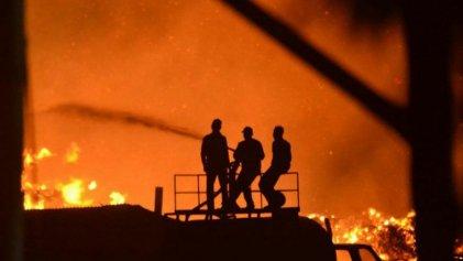 Nuevo incendio en la papelera Sanovo de Cipolletti