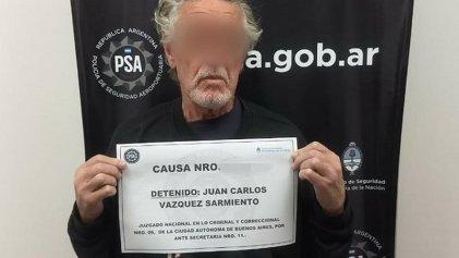 Detuvieron al represor Juan Carlos Vázquez Sarmiento