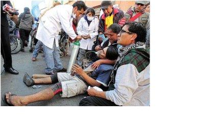 Movilización de personas con discapacidad es reprimida por el gobierno