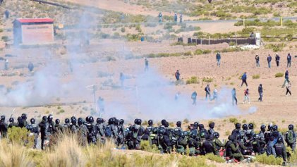 Conflicto entre cooperativistas mineros y el gobierno del MAS