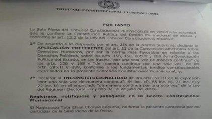 Tribunal Constitucional habilita que Evo Morales se presente a cuarto mandato