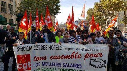 La lucha sin fronteras de las camareras de hoteles: 44 días de huelga del Hotel Holiday Inn de Francia