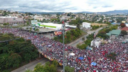 Marcha nacional contra el fraude electoral en Honduras