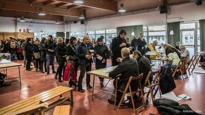 Gran afluencia de votantes en las elecciones catalanas
