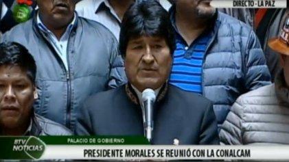 """Evo Morales retrocede y convoca a """"Encuentro Nacional por la Salud y la Vida"""""""