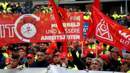 Alemania: el sindicato metalúrgico radicaliza las huelgas por la reducción de la jornada laboral