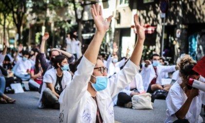Huelga de trabajadores de la salud en Cataluña contra la precarización y el ajuste