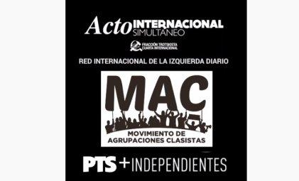 Dirigentes del Movimiento de Agrupaciones Clasistas invitan al Acto Internacionalista