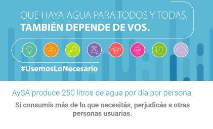 "Según Aysa la falta de agua es ""responsabilidad individual"" de los usuarios"