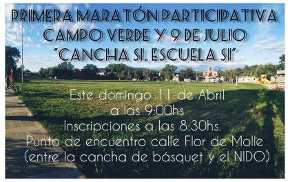 Vecinos de Campo Verde organizan maratón solidaria