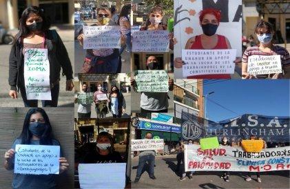 Estudiantes de la Universidad Nacional de Hurlingham se solidarizaron con la lucha de la Clínica Constituyentes