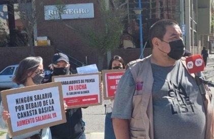 Paro nacional: trabajadores de prensa de Río Negro y Neuquén llevaron su reclamo a las calles