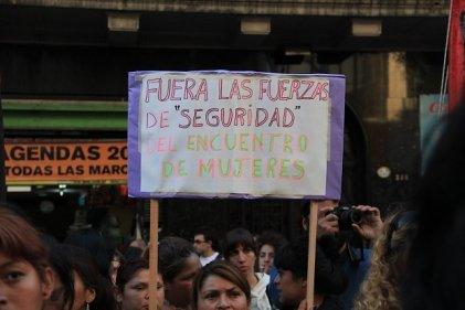 """Contra la represión al Encuentro de Mujeres: """"El capitalismo es el patriarcado"""""""