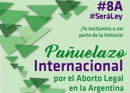 Uruguay se suma al pañuelazo internacional este 8A por el aborto legal