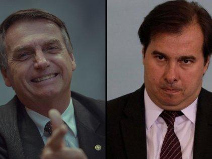 Bolsonaro considera mantener al golpista corrupto Rodrigo Maia en la presidencia de Diputados