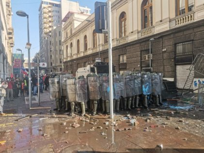 Comienza la represión antes de iniciar Convención Constitucional