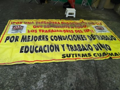 Maestros clasistas nos solidarizamos con el emplazamiento a huelga del SUTIEMS
