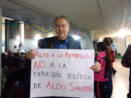 Hugo Aboites se solidariza contra la expulsión arbitraria de Aldo Santos