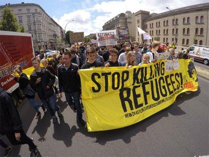 27A Huelga estudiantil contra el racismo y la guerra en Alemania