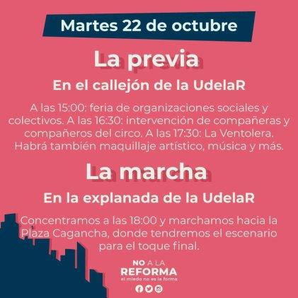 """Movilización """"No a la reforma"""" cambió de fecha"""