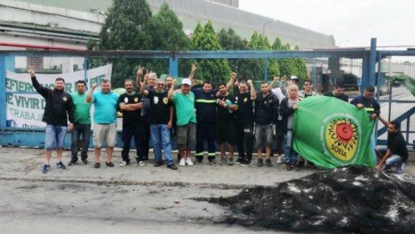 Acampe frente a la fábrica Aceitera Cofco en reclamo de puestos de trabajo