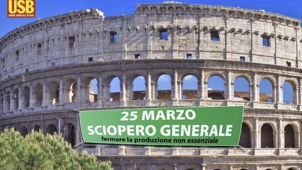 """Huelga general en Italia por el coronavirus: """"Nuestra salud antes que sus ganancias"""""""